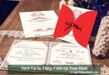 Dịch vụ in thiệp cưới tại Nam Định