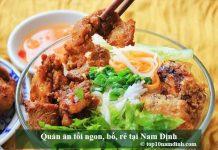 Quán ăn tối ngon, bổ, rẻ tại Nam Định